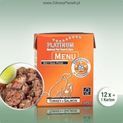 PLATINUM Menu Turkey+Salmon 375g