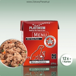 PLATINUM Menu Beef+Chicken 375g x12szt
