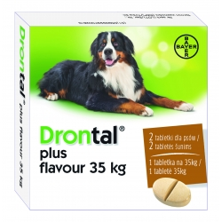 Drontal Plus flavour 35kg 2 tabletki
